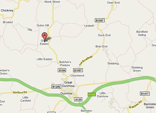 Great Dunmow map
